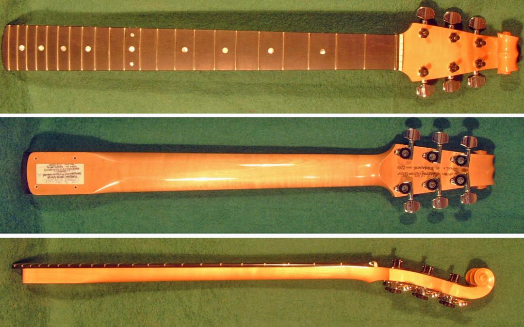 Burns gitárhoz egyedi nyak/fej készítése
