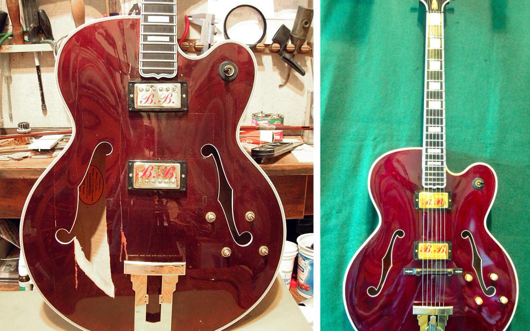 Gibson Custom L-5 javítás (tető-csere)