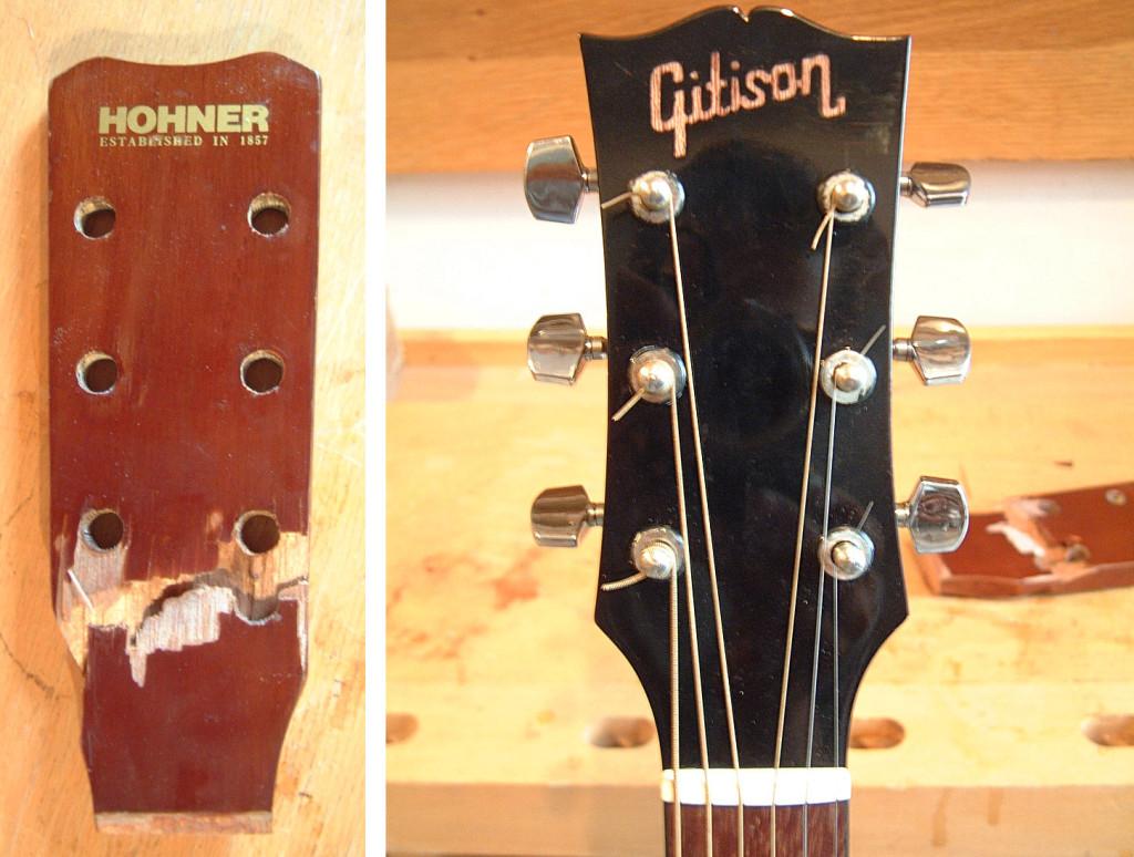 Az eredeti Hohner fej, és az új Gitison fej