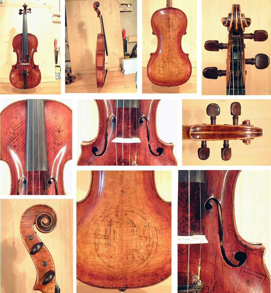 Hummel hegedű javítása