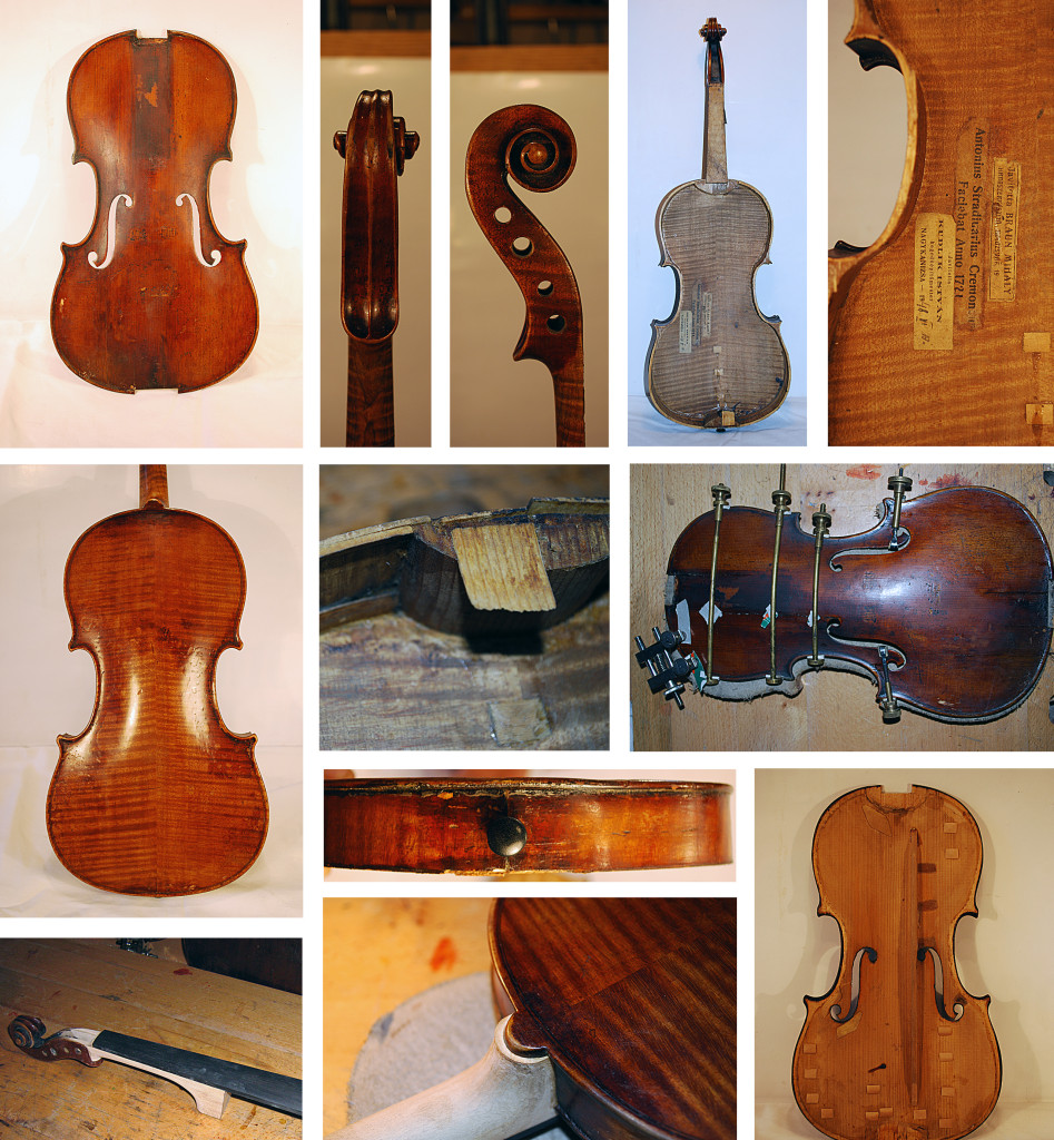 Stradivari címkejelzésű hegedű nagyjavítása