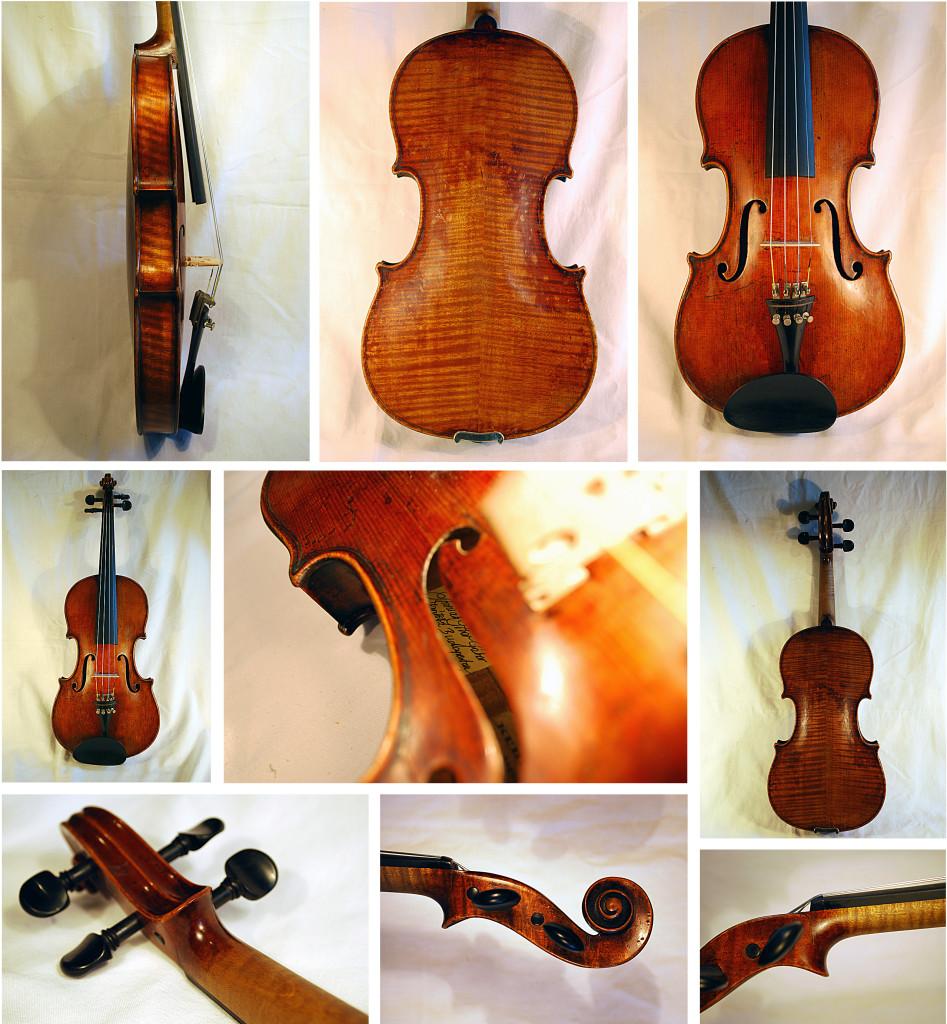 Stradivari címkejelzésű hegedű nagyjavítása - a javítás utáni állapot